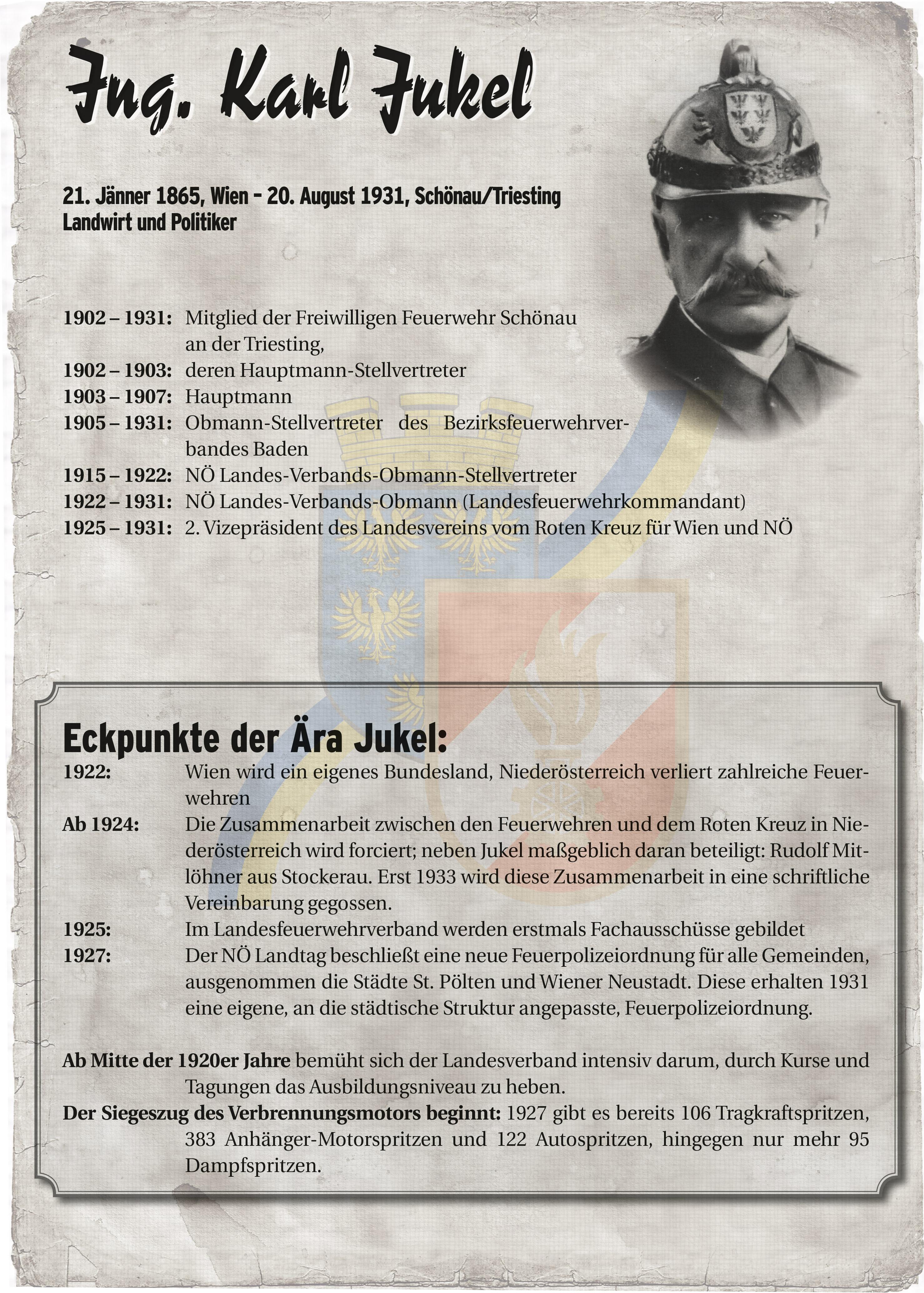 Infoblatt zur Zeit von Karl Jukel