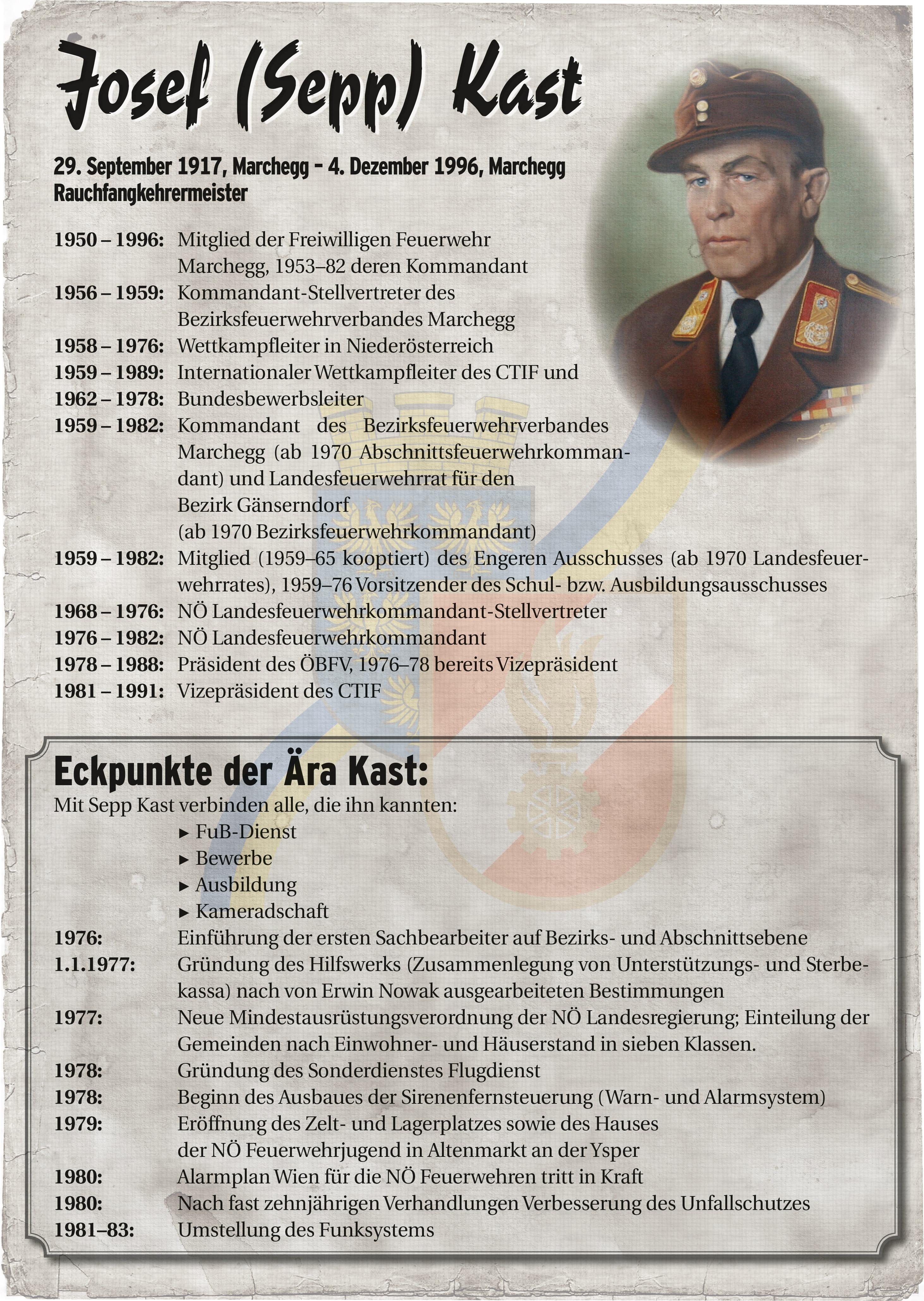 Infoblatt zur Zeit von Josef Kast