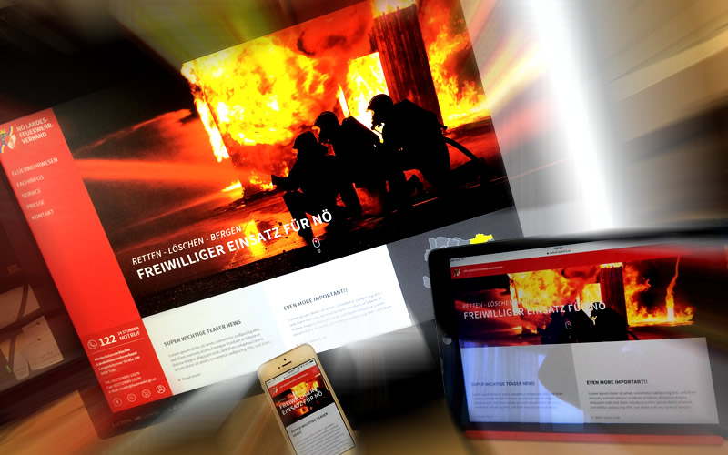 Foto: Neuer Webauftritt des NÖ Landesfeuerwehrverbands online